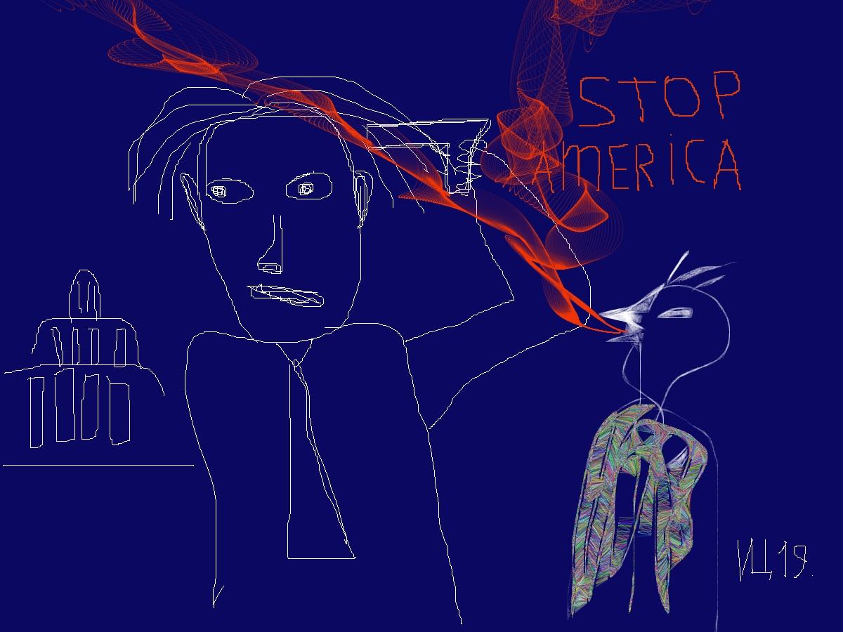 """Импровизации №4. Президент """"Т"""" одел перья Индейца из секретного шкафа, который открывался по кодовому слову-паролю """"WITCH HUNT""""…"""
